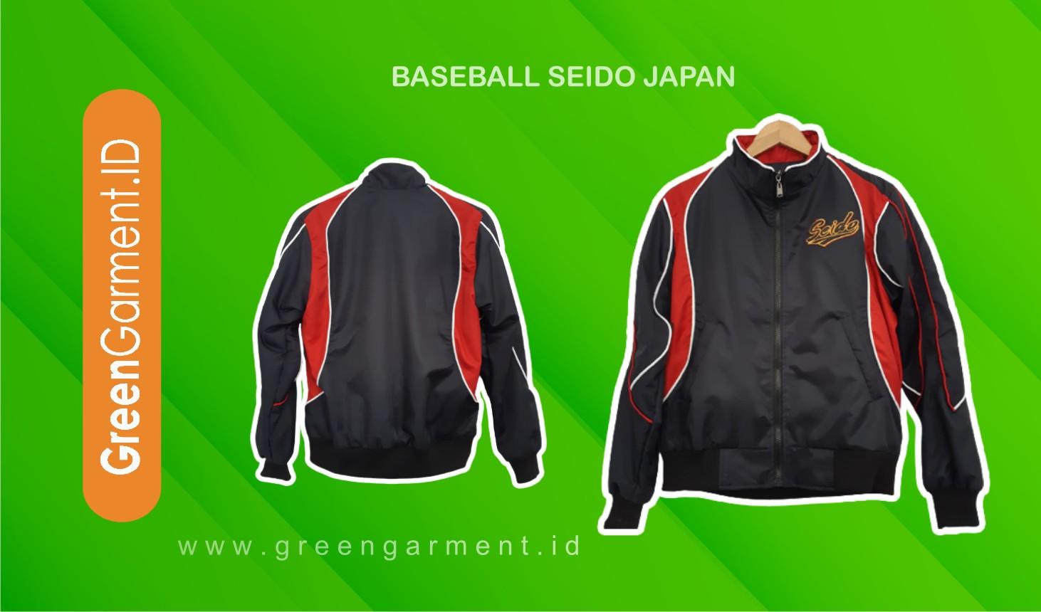 Jaket Baseball Seido Japan Green Garment