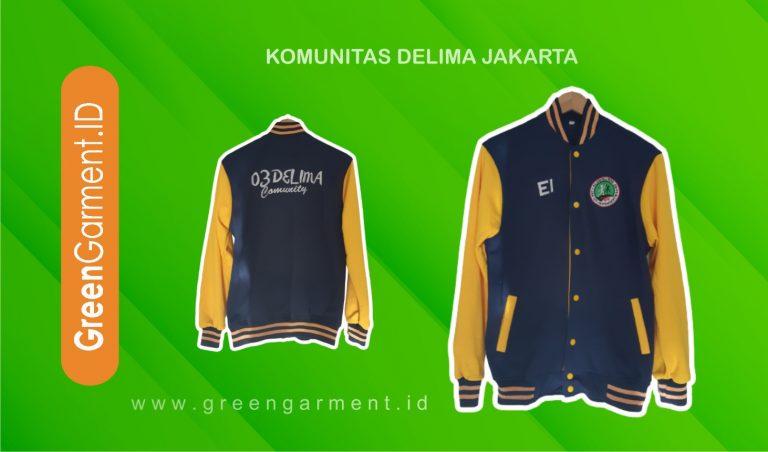 Jaket Komunitas Delima Jakarta Green Garment
